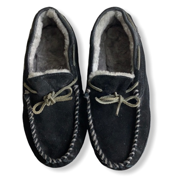 L.L. Bean Other - LL Bean Wicked Good Moccasin Slippers Sz 11 Black